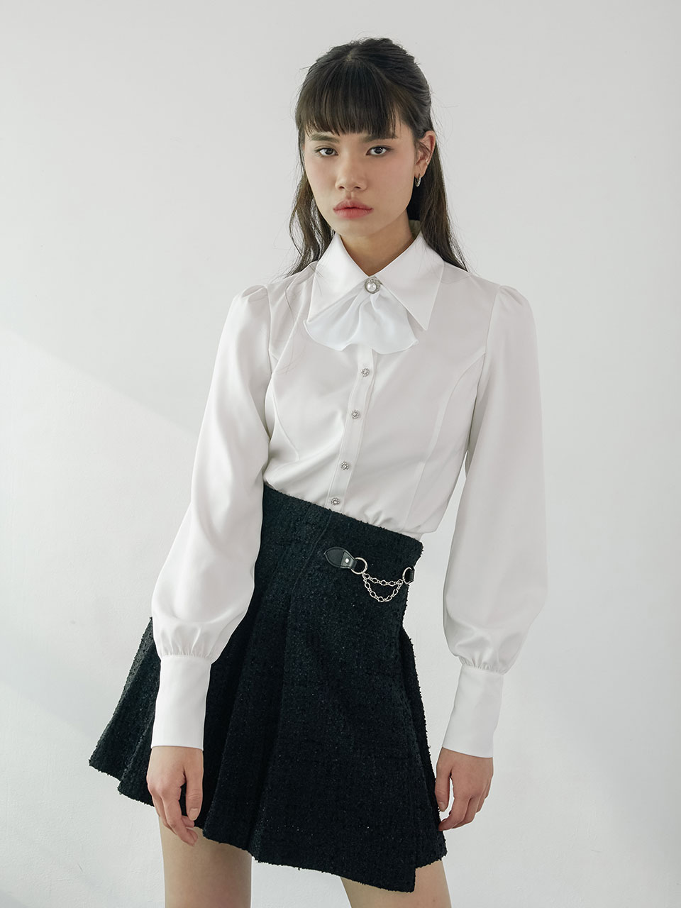 20SS Basic puff blouse (white)
