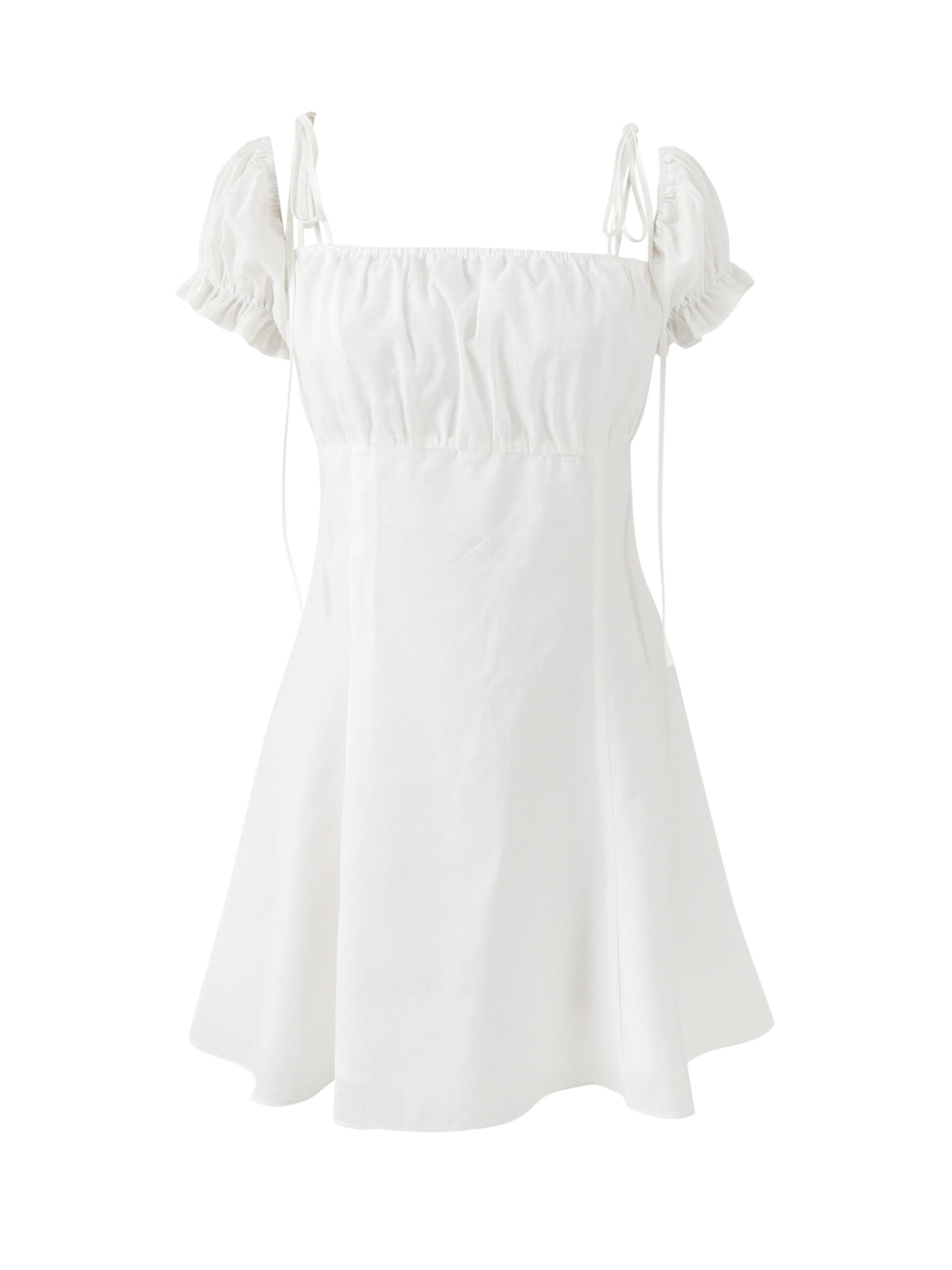 Puff mini dress (white)
