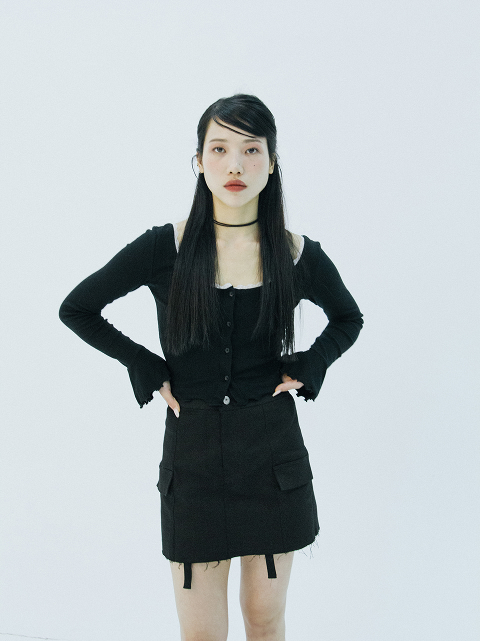 Cargo Mini skirt (black)